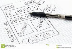 Bootstrap Header Design With Logo Responsive Web Design Sketch Stock Illustration Image