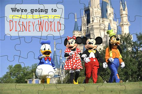 You Re Going To Disneyland Printable We Re Going To Disney World Printable Puzzle Simply