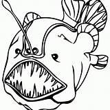 Coloring Tropical Fish Popular sketch template