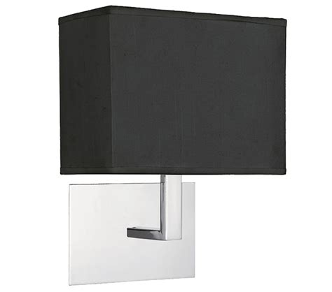 searchlight 1 light switched wall light chrome with black