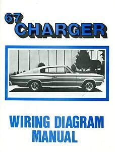 1967 Charger Wiring Diagram by 1967 67 Dodge Charger Wiring Diagram Manual Ebay