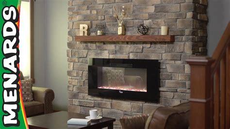 stone veneer fireplace menards   center youtube