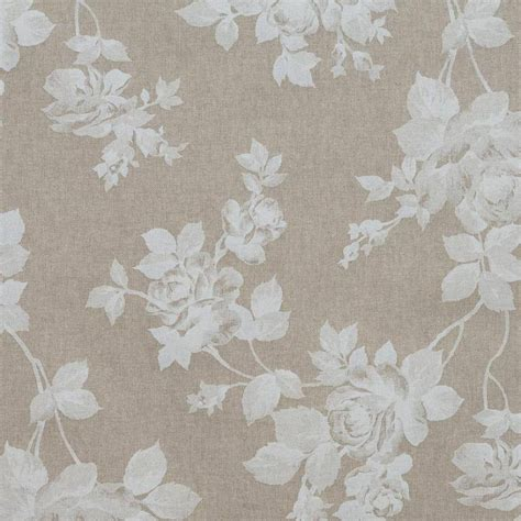 toile coton effet imprim 233 e fleurs blanches tissus price