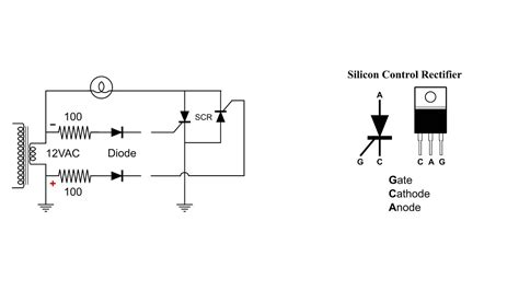 Silicon Control Rectifier Scr Basic Circuit Youtube