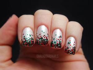 My Christmas Nails Chalkboard Nails Nail Art Blog