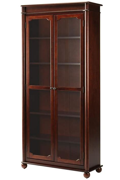 Black Bookshelf With Doors by Essex Bookcase With Glass Doors Living Room