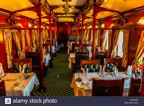 A Pillared Pre1940s Dining Car On The Luxury Rovos Rail