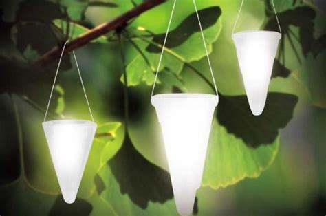 hanging solar garden light cornet shaped solar lights
