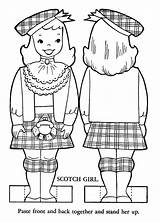 Coloring Pages Paper Children Dolls Colouring Portugal Belgium Sheets Printable Ireland Activities Scotland Lands Books Doll Wales Scottish Highland Activity sketch template