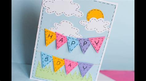 greeting birthday card step  step