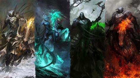 apocalypse four deviantart horsemen knights thedurrrrian wallpapers painting colors artist