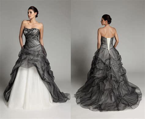 black and white wedding dresses fashjourney com