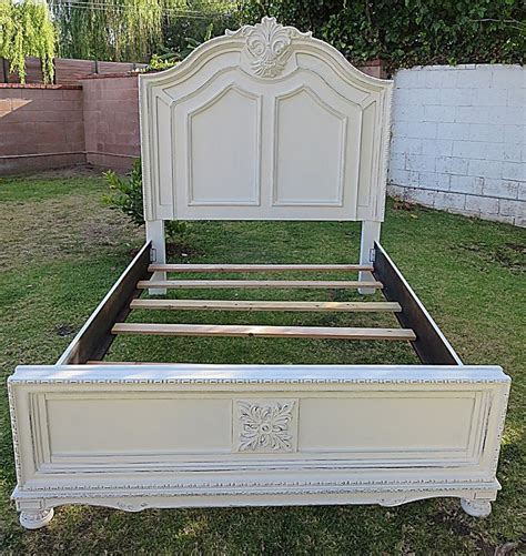 shabby chic bed frames shabby chic french provincial queen bed frame cottage white bed frames pinterest queen