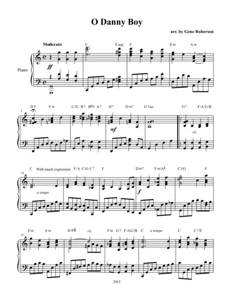 download o danny boy londonderry air sheet music by