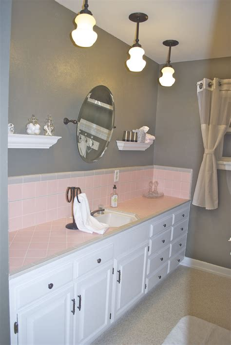 Modern Pink Tile Bathroom by How To Embrace The Pink Tile In The Bathroom Home