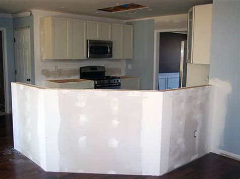 install kitchen island installing a half wall kitchen island dining office