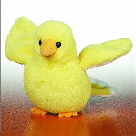 yellow canary bird webkinz lil kinz plush toy