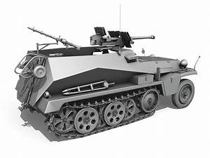 Sd Automobile : sd kfz 250 11 half track with heavy anti 3d model obj 3ds fbx c4d lwo lw lws ~ Gottalentnigeria.com Avis de Voitures