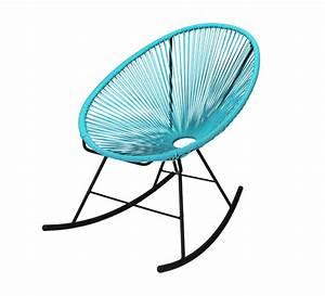 Fauteuil Bleu Turquoise : fauteuil acapulco rocking chair bleu turquoise 95 salon d 39 t ~ Teatrodelosmanantiales.com Idées de Décoration