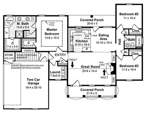 1500 sq ft floor plans southern style house plan 3 beds 2 baths 1500 sq ft plan