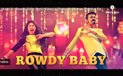 maari  rowdy baby lyric video song dhanush sai