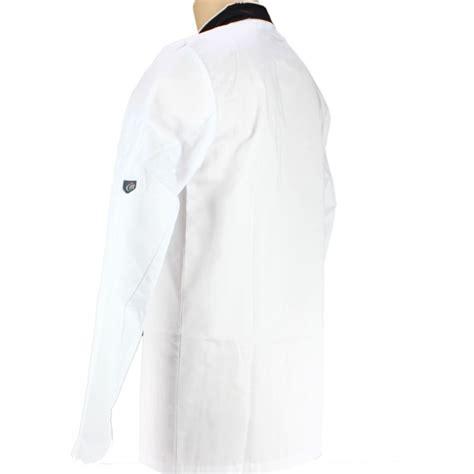 cuisine pour homme veste de cuisine blanche avec liseré noir manches longues
