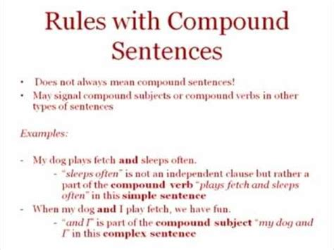 Simple, Compound And Complex Sentences Youtube