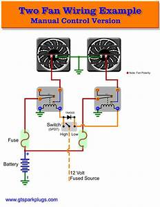 Trinary Switch Wiring Diagram With Two Electric Fans
