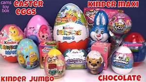 Easter Kinder XL Jumbo Maxi Chocolate Surprise Eggs Pikmi ...