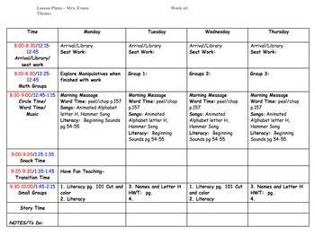 preschool lesson plan template  ecdc teacher teachers