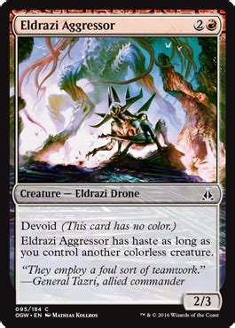 eldrazi aggressor from oath of the gatewatch spoiler