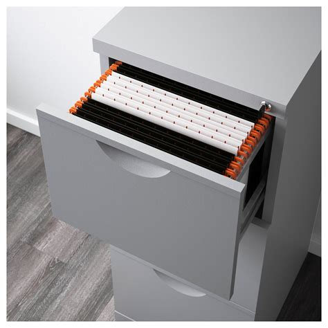 erik file cabinet silver colour 41x104 cm ikea
