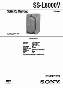 Sony Mhc-gr8000  Ss-l8000v Service Manual