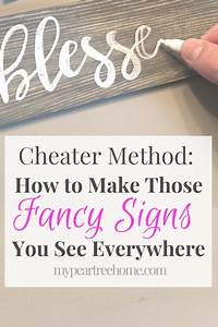 cheater method how to make a diy sign diy signs craft With how to make wood signs with lettering