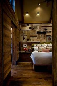 reclaimed wood wall wows in rustic master bedroom hgtv