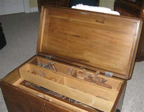 antique woodworkers tool box plans diy   yard