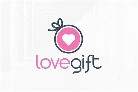 love gift logo template logo templates creative market