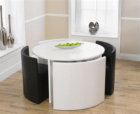 black round dining table and chairs round table and chairs oslo white high gloss round