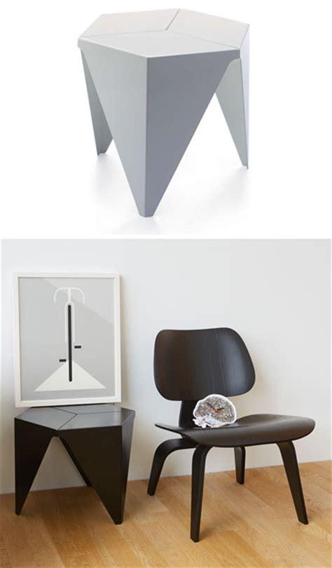vitra design aluminum prismatic   side table