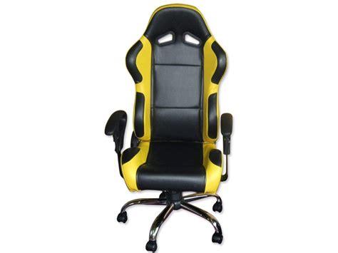 siege baquet fauteuil de bureau chaise de bureau baquet simili cuir jaune noir ebay