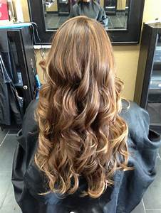 Natural brown hair with low lights and beauty