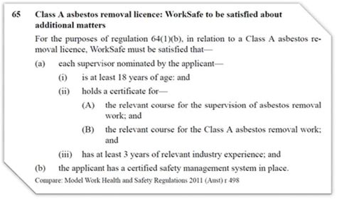 safety system certification asbestos removalists