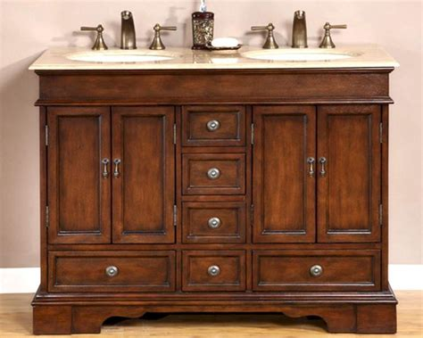 Ivory Bathroom Vanity by Silkroad 48 Quot Bathroom Vanity Travertine Top Ivory