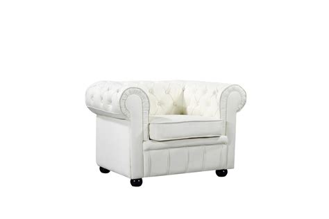 Cream Leather Chesterfield Style Armchair