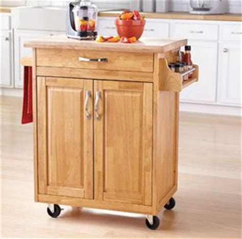 amazoncom mainstays kitchen island cart natural