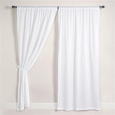 White Cotton Curtains Target by White Cotton Voile Curtains Set Of 2 Voile Curtains