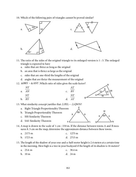 Similarity Worksheets Geometry Worksheets For All  Download And Share Worksheets  Free On