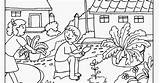 Coloring Colouring Gardening Getdrawings Flower Spring Printable Father sketch template