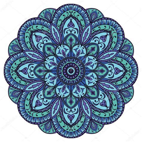 Mandala Images Mandala In Blue Tones Stock Vector 169 Matorinni 80529362