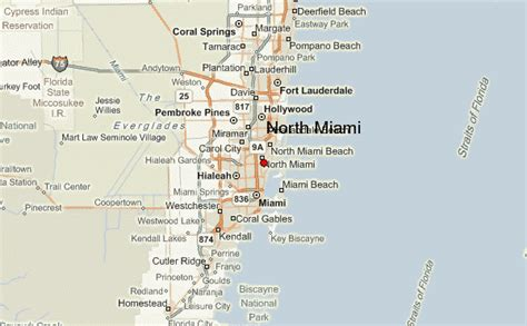 Simple Coral Gables Florida Map